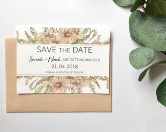 V I N T A G E   F L O R A L S  | Wedding Save the Date Cards