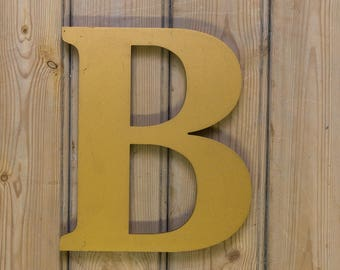 Vintage Letter B, Gold Letter B, Vintage  Letter, Alphabet, B, Wall Art, Letter B, old letters, Signage, eclectic look