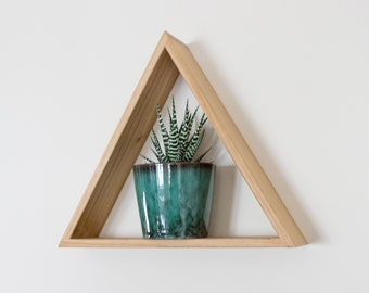 Oak Triangle Shelf - Solid Oak - Floating Shelf - Geometric - Wall Shelf - Wall Decor - Shelves - Display Shelf - Oak Shelf - Wooden Shelf