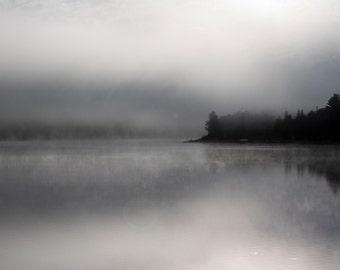 Dead River Fog - Photograph