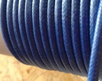 3mm blue imitation leather cord