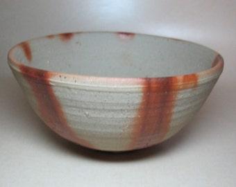 "Bizen Wood Fired Hidasuki Chawan Bowl, Vintage 5-1/4"" Dia. Bizen-yaki Matcha Tea Bowl For Japanese Tea Ceremony, Mezuroi"