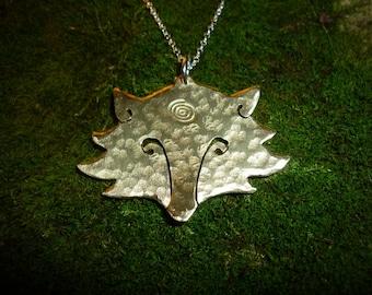 Fox Head Pendant Necklace Jewellery, SquareHare, free shipping postage, vegan UK, Hunt Sabs, animal rights, vixen love, summer wild wedding