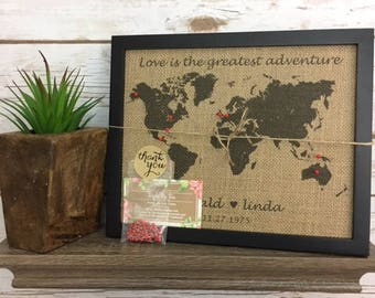 World map pin board etsy framed push pin travel world map map of united states us push pin map sciox Images