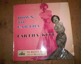 Down To Eartha 1955 10 inch Vinyl LP Album,Eartha Kitt,British First Issue,HMV DLP1087,Clean item