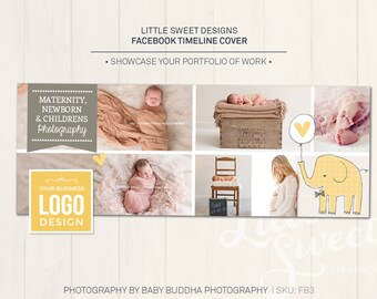 Facebook Timeline Cover - Photoshop Template for photographers (FB3) - INSTANT DOWNLOAD