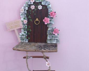 Handpainted personalised wooden fairy door