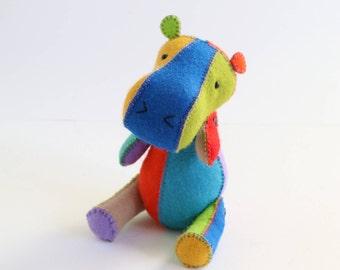 hippo pdf pattern, pdf toy pattern, felt hippo pattern, hippo pattern, hippo toy pdf, diy hippo pdf, hippo toy pattern,  H is for Hippo