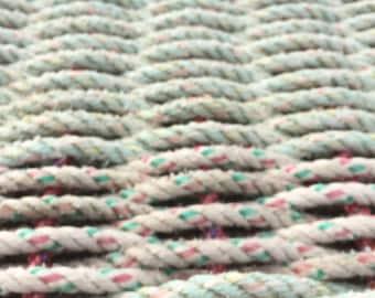 recycled lobster rope floor mat OOAK rugs Maine lobster rope rope doormat indoor rug outdoor rugs Mermaid mats housewarming gift beach decor