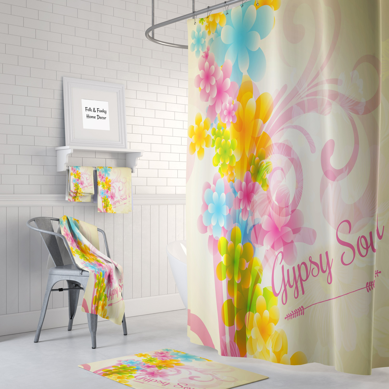 Gypsy Soul Boho Shower Curtain Optional Bath, Bath Towels Mat ...