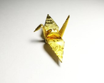 """100 Origami Paper Cranes in Gold With Rose Pattern 1.5"""" inch Origami Paper Origami Cranes  for Wedding Gift, decorate , backdrop wedding"""