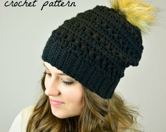 PATTERN: Scarlet Slouchy Beanie, Crochet Pattern, Instant Download, PDF