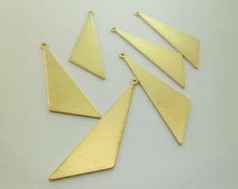 20pcs High Quality Raw Brass Triangle Pendants Earring Drops Geometry Minimal Painting Custom Eco-friendly Brass 18 Gauge 0103-0121