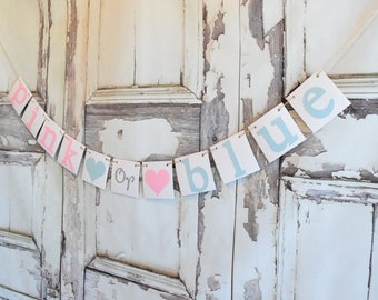 Baby Shower Banner, Boy or Girl baby,Gender Reveal Decorations,Gender Reveal Banner, Pink or Blue ?, Gender Reveal Party, Gender Reveal Idea