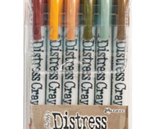 Ranger Tim Holtz Distress Crayons - Set # 10 - Water Reactive Pigments