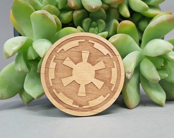 Star Wars Galactic Empire Magnet - Laser Engraved Alder Wood - Fridge Magnet