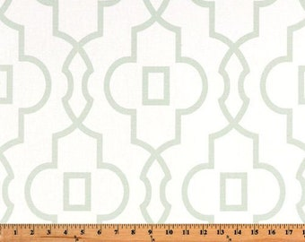 Bordeux Artichoke Fabric, Green and white fabric