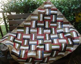 Scrappy blocks lap quilt