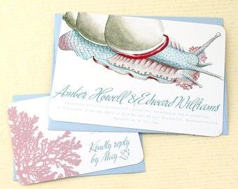 Sea Snail Invitations for your Beach Wedding