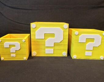 Wooden Mario Coin Boxes
