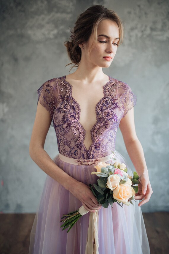 Lilac wedding dress serenity for Lilac dress for wedding