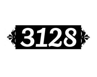 Horizontal Metal Address Sign Metal House Number sign Home Decor  Horizontal Metal Address Number Plaque Housewares Metal Address Number