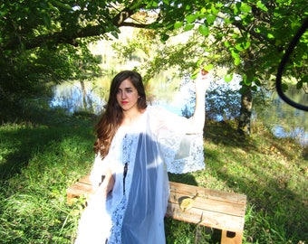 Romantic Sheer Peignoir  Dressing Gown