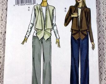 Vogue 8756, Misses' Jacket & Pants Sewing Pattern, Easy Sewing Pattern, Easy Jacket Pattern, Easy Pants Pattern, Misses' Size 8 - 16, Uncut