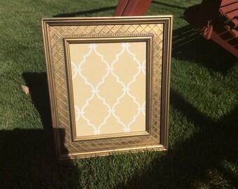 Vintage large unique frame with glass
