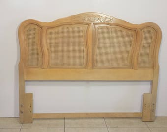 French Provincial Queen Size Headboard with Cane
