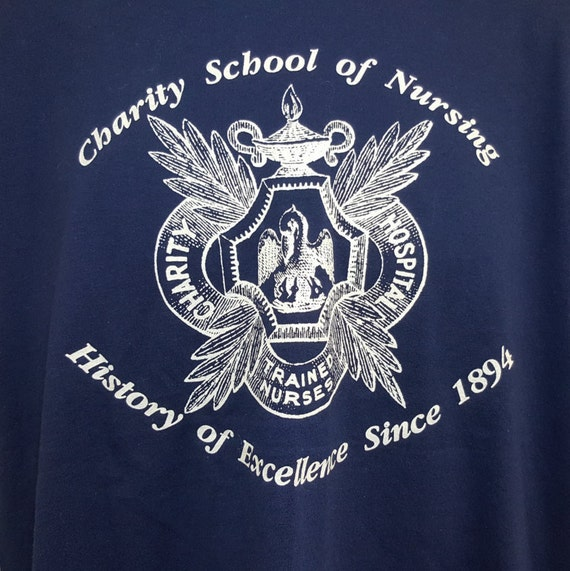 Vintage 80 S Hanes Fifty Fifty Charity School Of Nursing