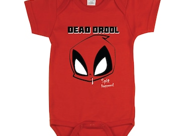 Funny baby clothes Dead Drool Spit Happens Funny baby Bodysuit, Funny baby shirts Funny bodysuit Dad Funny baby gifts for girls Deadpool