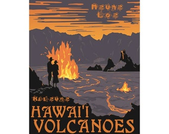 HAWAII VOLCANOES NP 1s- Handmade Leather Journal / Sketchbook - Travel Art