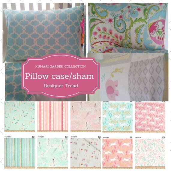 Pillow Case / Pillow Sham 12x16, 20x20, Twin - Magical Unicorn & Mermaids, Nursery Decor, Girl Bedding