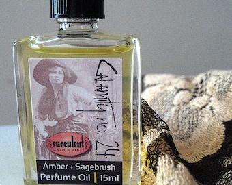 Perfume Oil, Amber and Sagebrush Calamity No. 24, 15ml .5 oz., alcohol-free