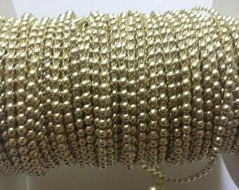 10 Yards 3mm Gold Pearl Flatback Banding/Trim