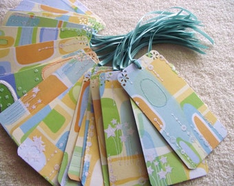 40 WEDDING WISH TREE Tags- Escort Cards - Squiggles and Stars- Last Set