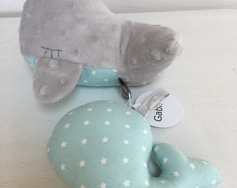 Whale Toy and Whale rattle