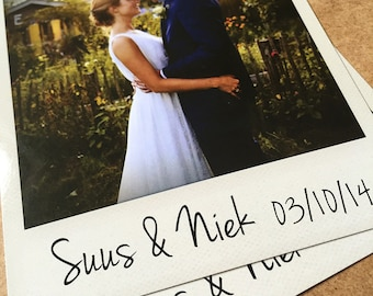 Personalised Instant Photo Wedding Thank You Cards