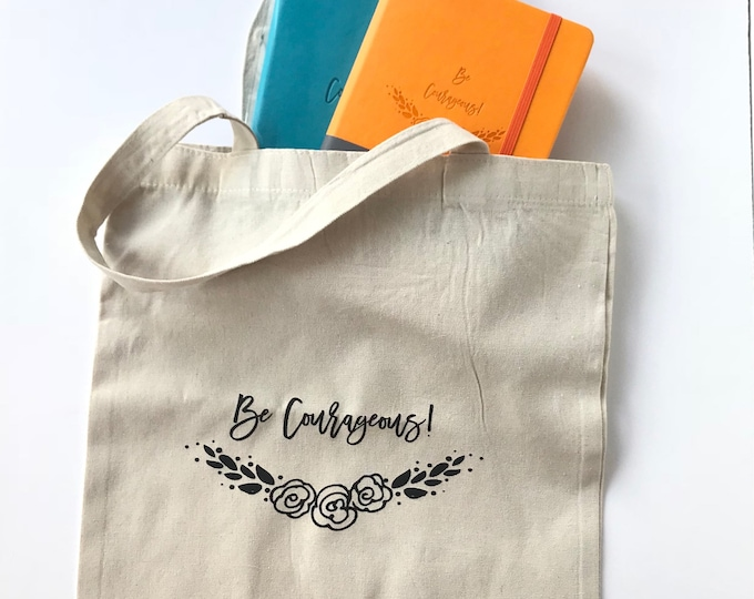Be Courageous Journal and Tote Set