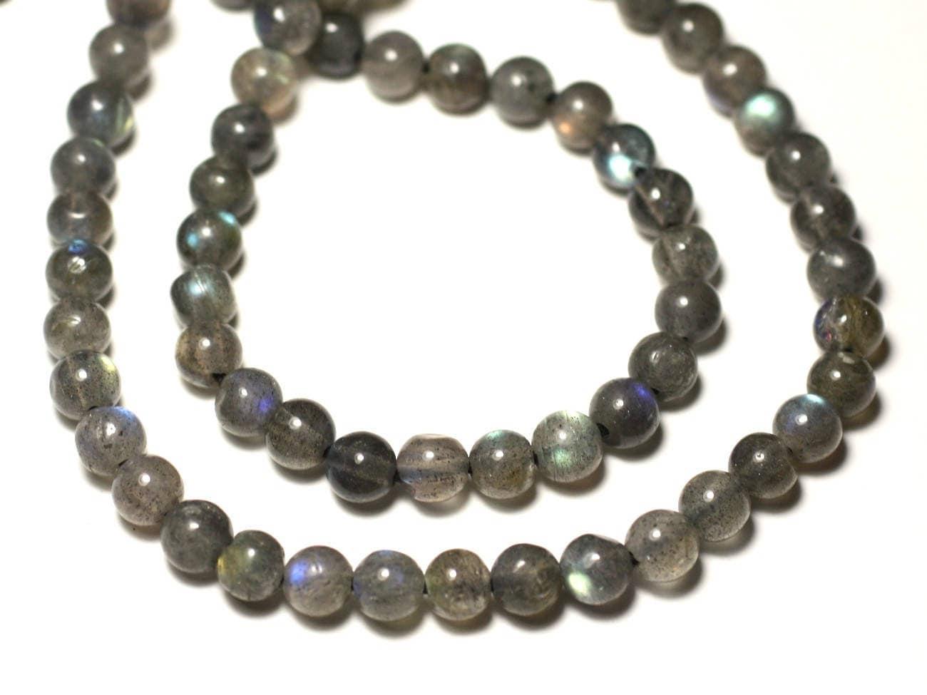 10pc perles de pierre labradorite boules 6mm. Black Bedroom Furniture Sets. Home Design Ideas