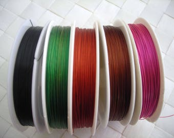 1 meter of cable wire 0.38 mm brown color