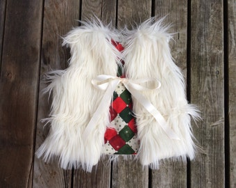 SALE! white faux fur vest- Made to order baby/toddler