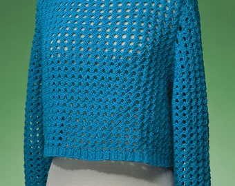 PDF Knitting Pattern Top-Down Cropped Pullover #171