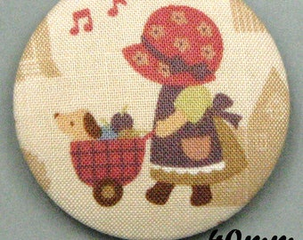 Fabric - Sunbonnet - covered button Sunbonnet Sue (40-06)
