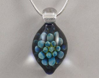 Blown Glass Pendant Necklace ~ Handblown Boro Lampwork Glass Jewelry