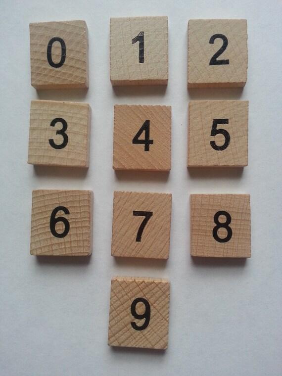 wooden scrabble tiles numbers 10 x 0 9 100 tiles set word