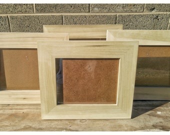 Poplar Frames, 8x10 Poplar Frames, 4 Poplar Frames, Bulk Wood Frames, Unfinished Wood Frames, Wood Crafts Supplies, DIY Wood Frames