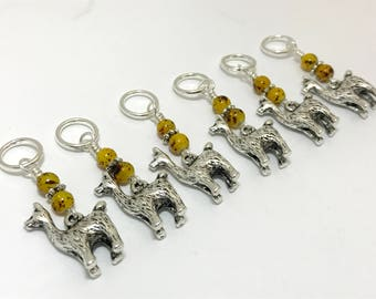 Alpaca Stitch Markers, Snag Free Knitting Markers, Gifts for Knitters, Llama