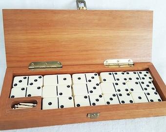 Cribbage And Dominoes Wood Box Set